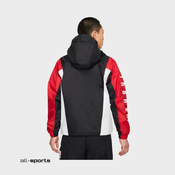 Jordan Jumpman Air  Windbreaker Jacket Black - Red