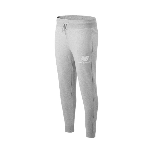 New Balance Essential Stacked Logo Pants Grey