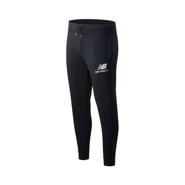 New Balance Essential Stacked Logo Pants Black