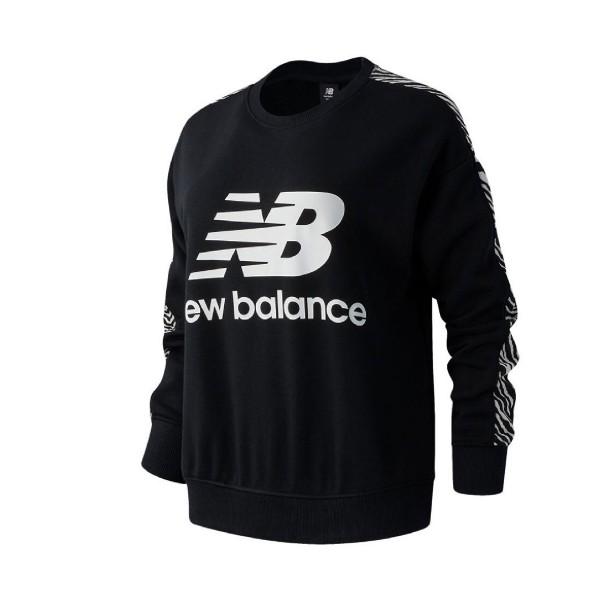 New Balance Animal Crew Pullover Black