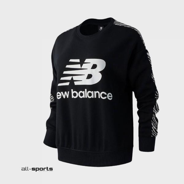 New Balance Animal Crew Pullover Black