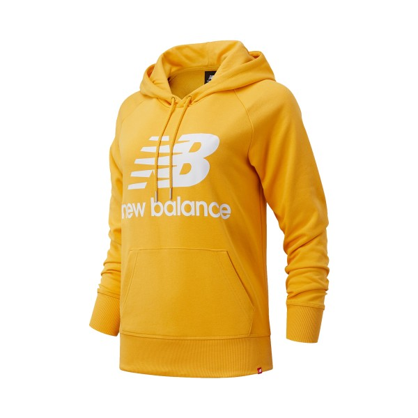 New Balance Essentials Stacked Logo Pullover Hoodie Yellow