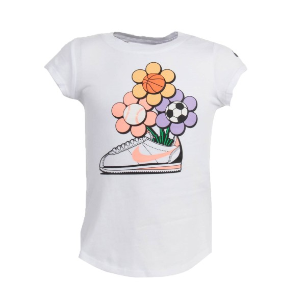 Nike Cortez Flower Sport SS Tee Λευκο