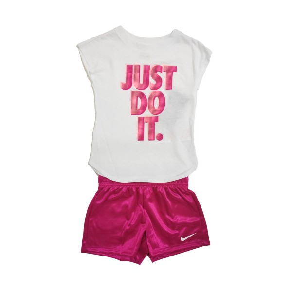 Nike Sportswear Just Do It Girls Set  White - Pink