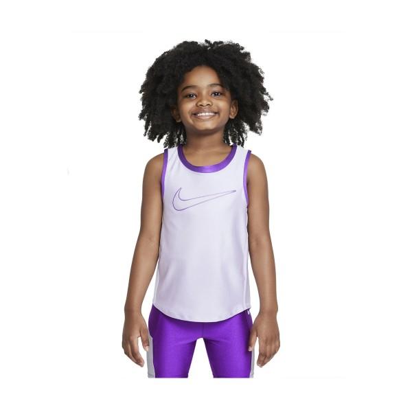 Nike Little Kids Tank Λευκο - Μωβ
