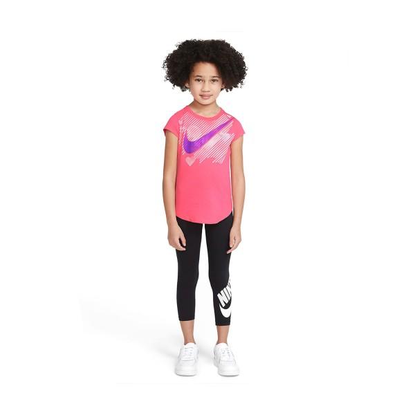Nike Stamped Swoosh Heart Tee Ροζ