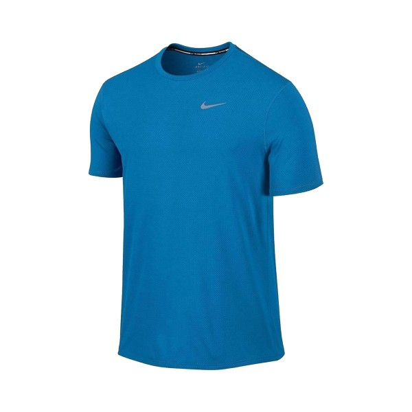 Nike Dry Contour Running T-Shirt Blue
