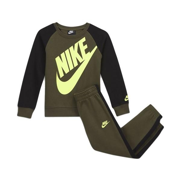 Nike Oversized Futura Crew Set Black - Olive