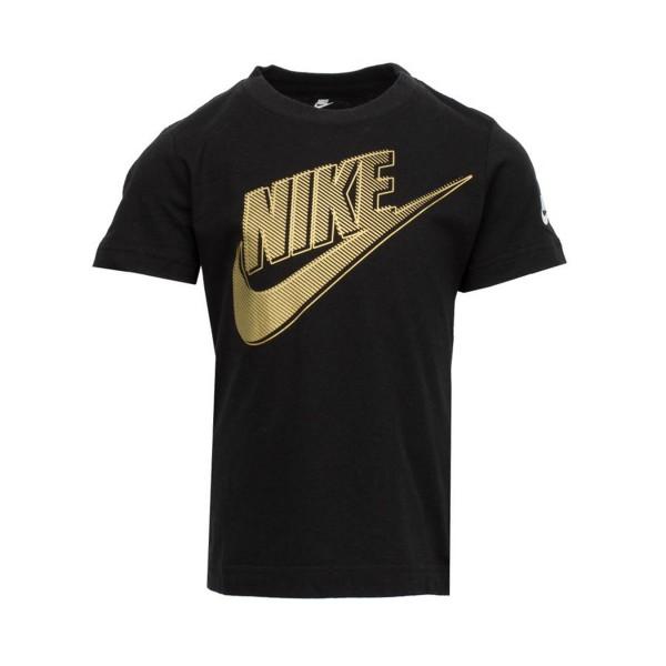 Nike Club HBR Metallic Short Sleeve Tee Black