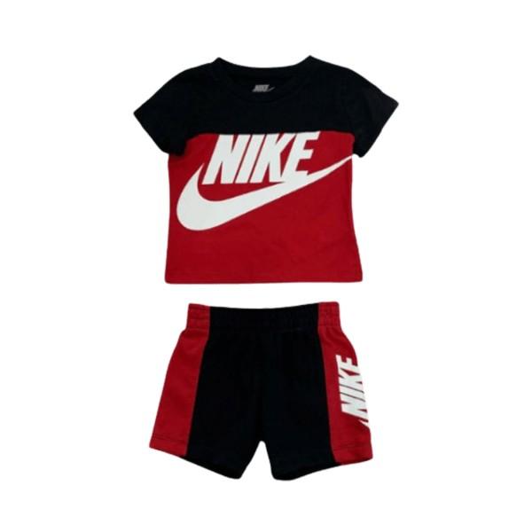 Nike Sportswear Amplify Short Set Red - Black