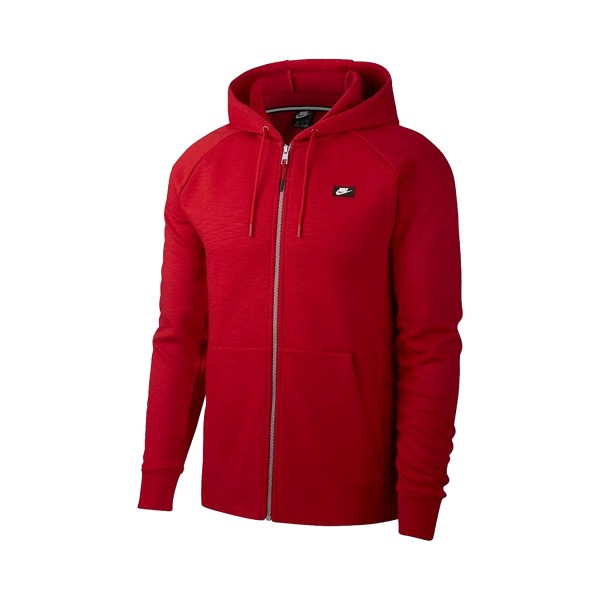Nike Sportswear Optic Fleece  Hoodie Fz Red