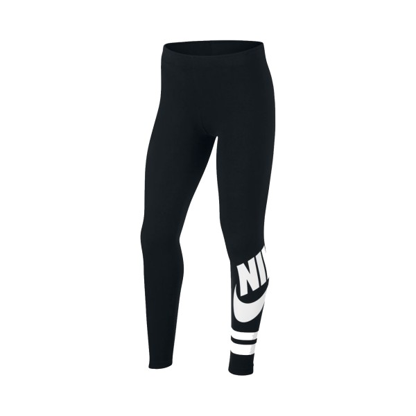 Nike Sportswear Graphic Legging Girls Black