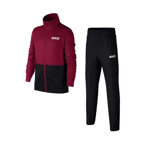 Nike Sportswear Big Kids Poly Tracksuit Black - Burgundy