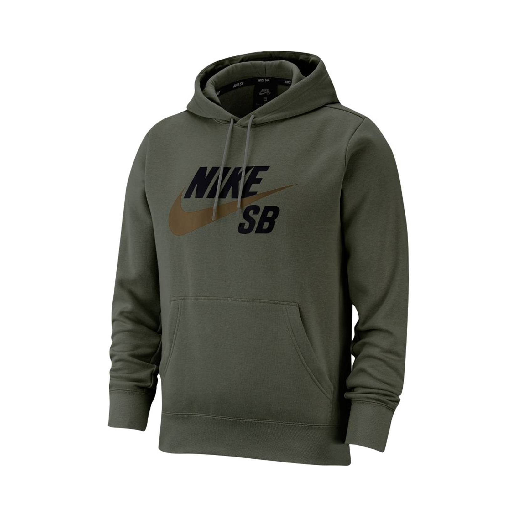 Nike SB Icon Pullover Skate Hoodie Olive