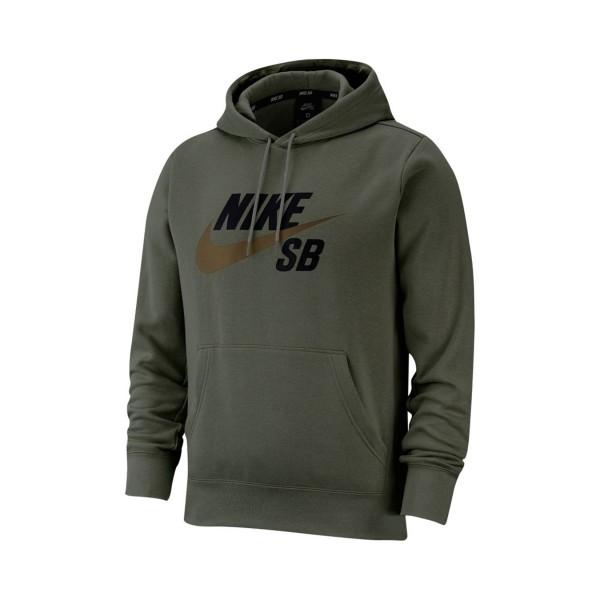Nike SB Icon Pullover Skate Hoodie Olive