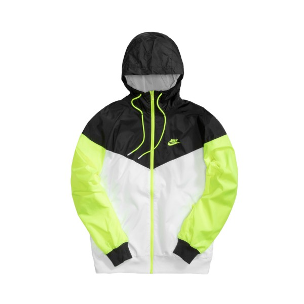 Nike Sportswear Windrunner White - Black - Volt