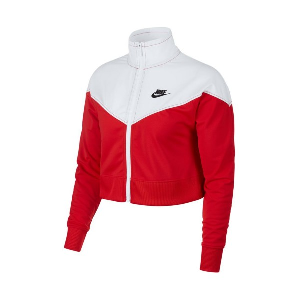 Nike Sportswear Windrunner Knit Crop Jacket White - Red