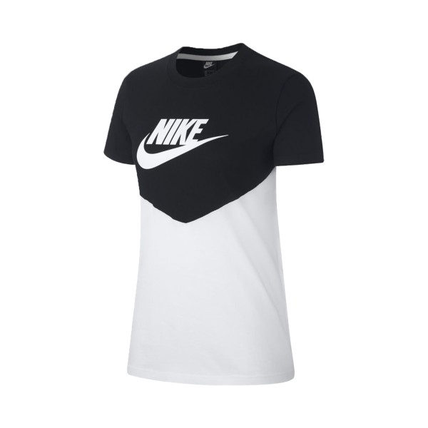 Nike Sportswear Heritage Tee Black - White