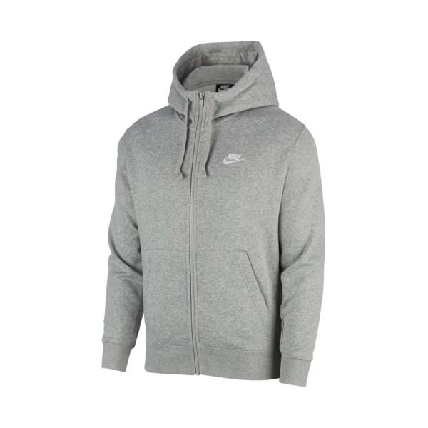 Nike Sportswear Club Fleece Full Zip Grey