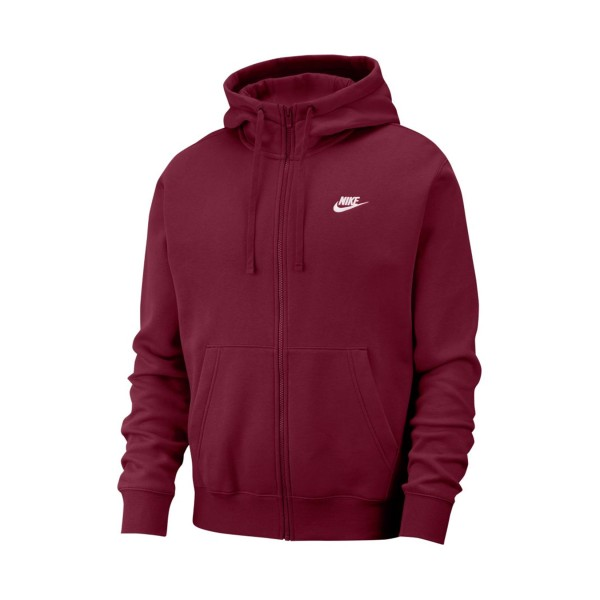 Nike Sportswear Club Fleece Full Zip Burgundy