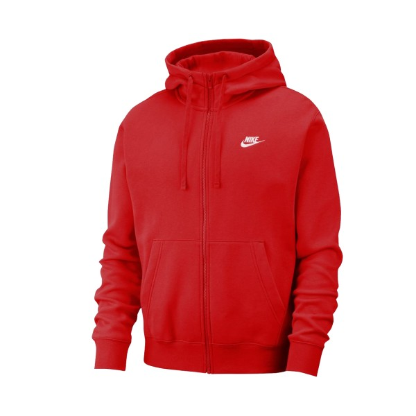 Nike Sportswear Club Fleece Full Zip Red