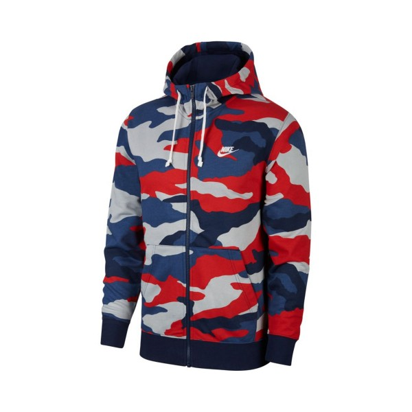 Nike Sportswear Club Full-Zip French Terry Hoodie Multicolor Navy