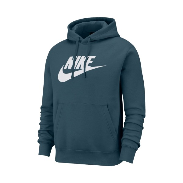 Nike Sportswear Club Fleece Graphic Pullover Hoodie Petrol