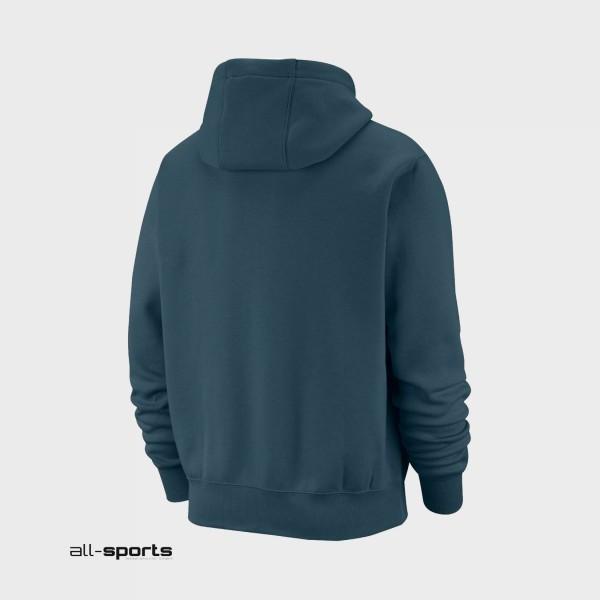 Nike Sportswear Club Fleece Graphic Pullover Hoodie Petrol
