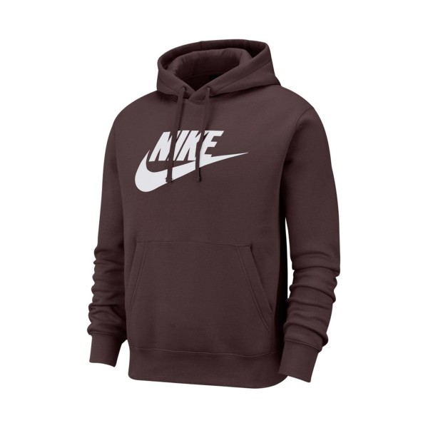 Nike Sportswear Club Fleece Graphic Pullover Hoodie Burgundy