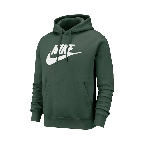 Nike Sportswear Club Fleece Graphic Pullover Hoodie Green