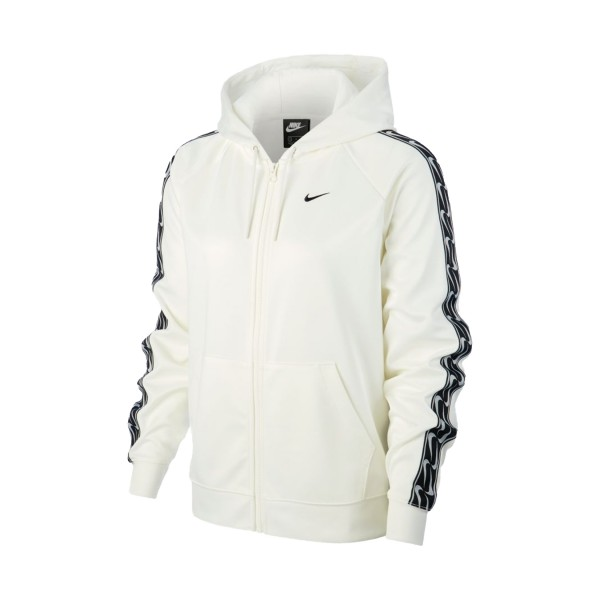 Nike Sportswear Essential Fleece Logo Tape Jacket White
