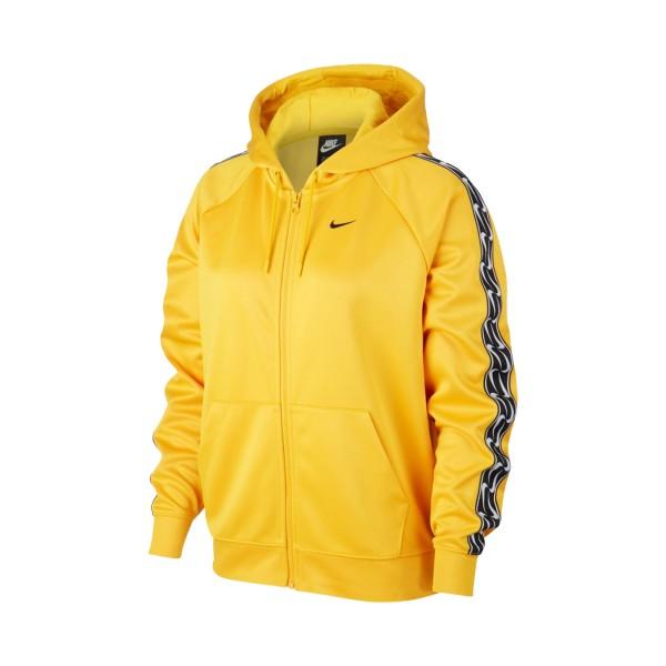 Nike Sportswear Essential Fleece Logo Tape Jacket Yellow
