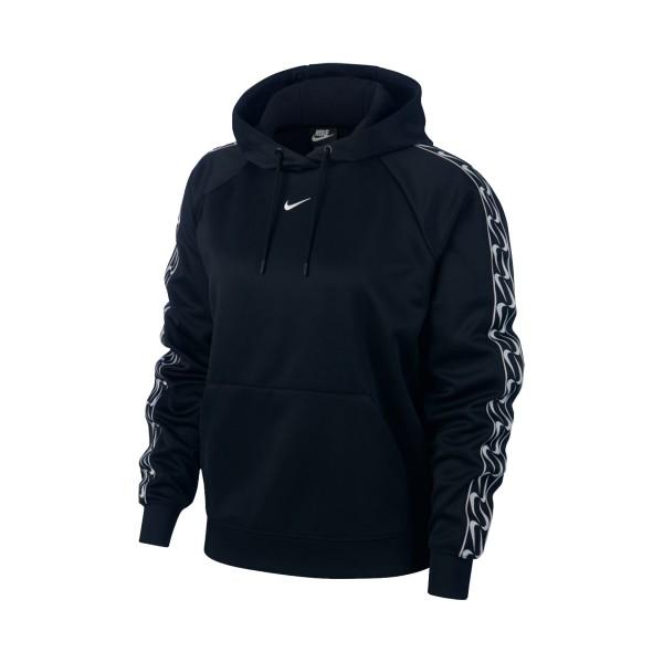 Nike Sportswear Po Logo Tape Hoodie Black