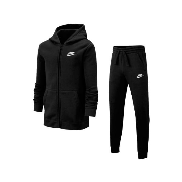 Nike Sportswear Older Kids Tracksuit Black