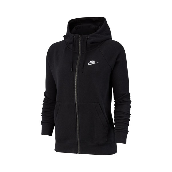Nike Sportswear Essential Full-Zip Fleece Hoodie Black
