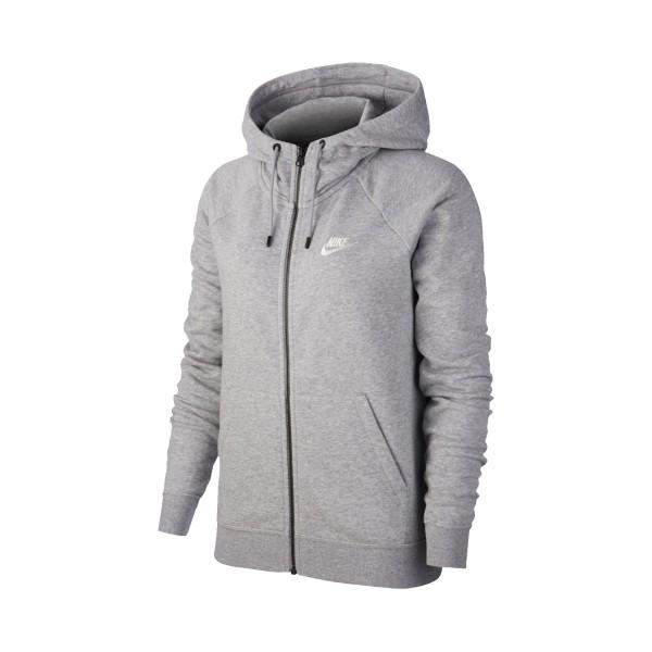 Nike Sportswear Essential Fleece Crew Full Zip Jacket Grey