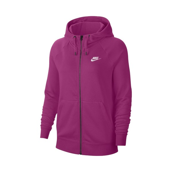 Nike Sportswear Essential Full-Zip Fleece Hoodie Purple
