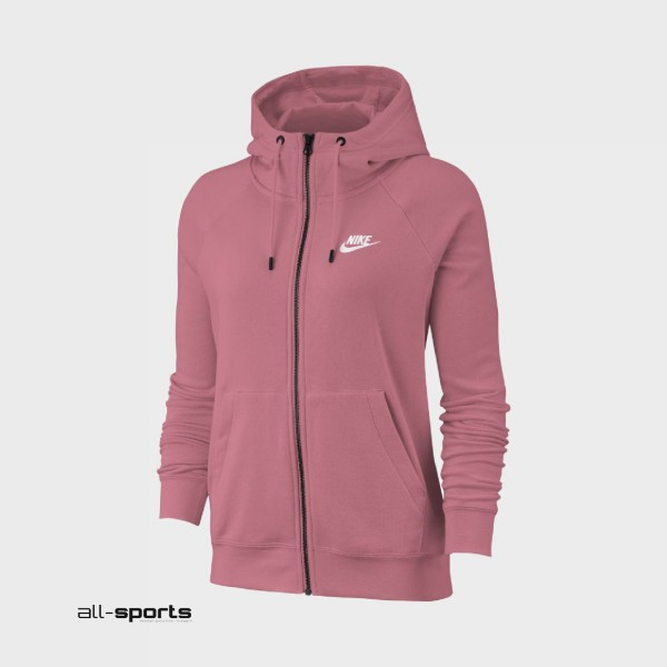 Nike Sportswear Essential Full-Zip Fleece Hoodie Desert Berry