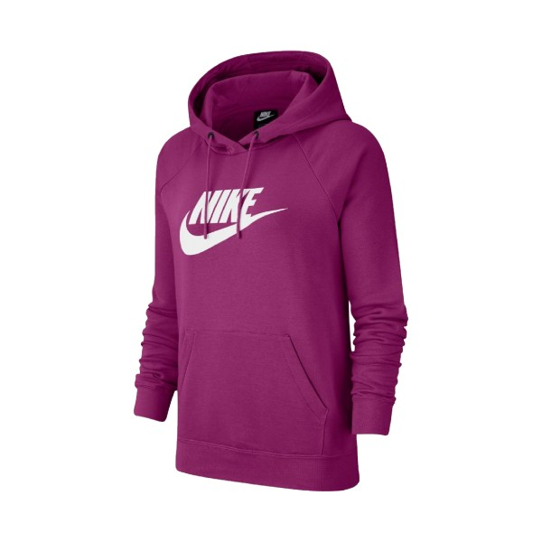 Nike Sportswear Essential Fleece Crew Hoodie Purple