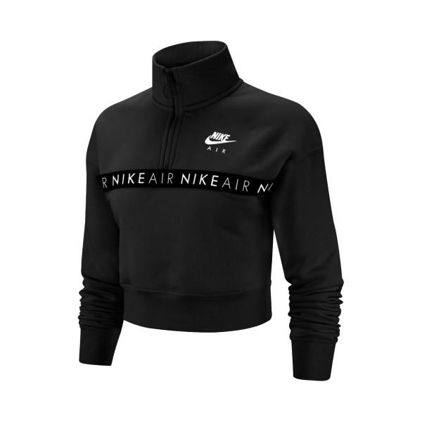 Nike Air 1/2 Zip Crop Hoodie Black