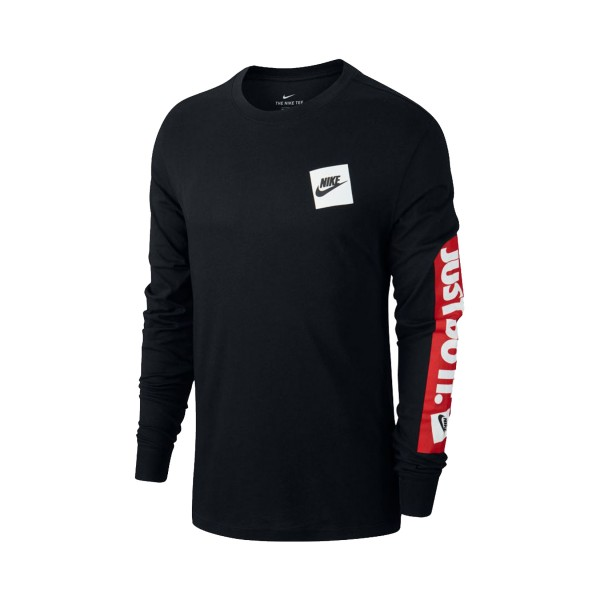 Nike Sportswear Just Do It Sleeve T-Shirt Black