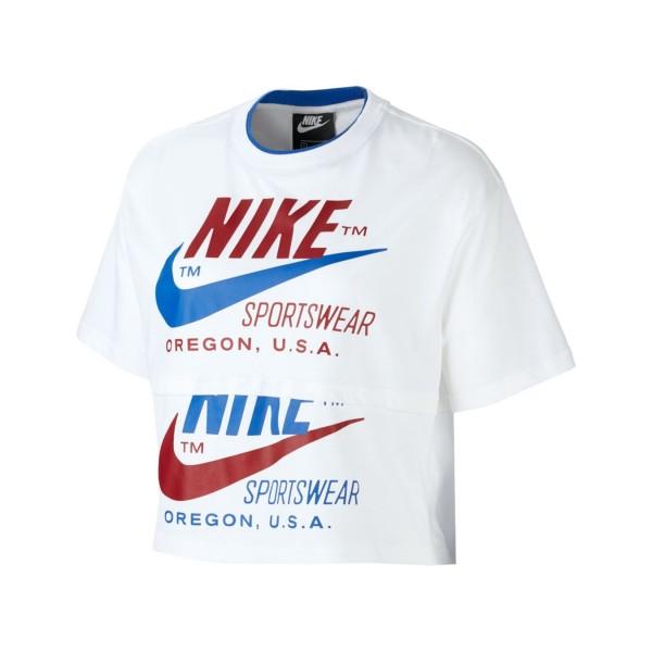 Nike Sportswear Icon Clash Crop Top White