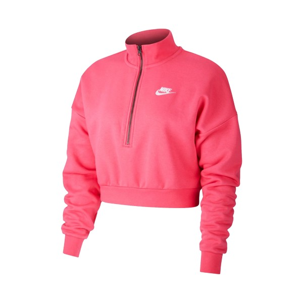 Nike Sportswear Essential Fleece Crop Fuchsia