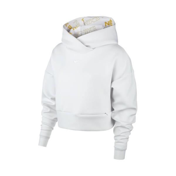 Nike Pro Fleece Pullover Hoodie White