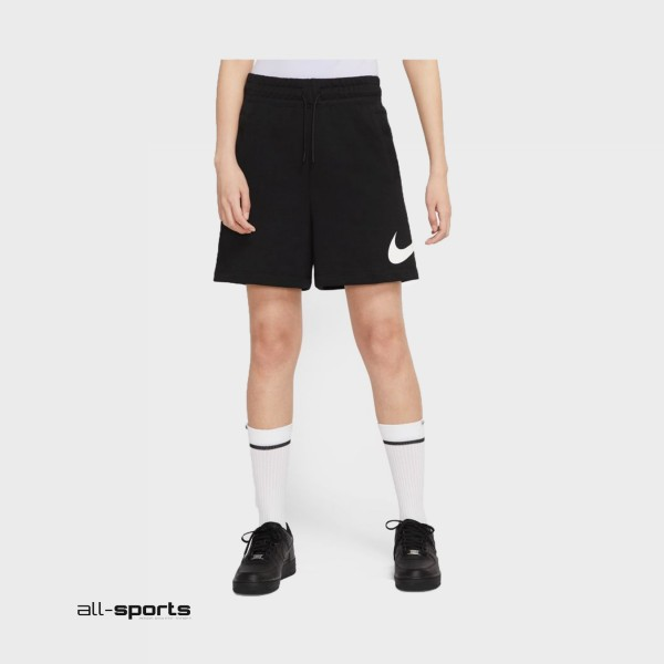 Nike Sportswear Swoosh French Terry Shorts Black