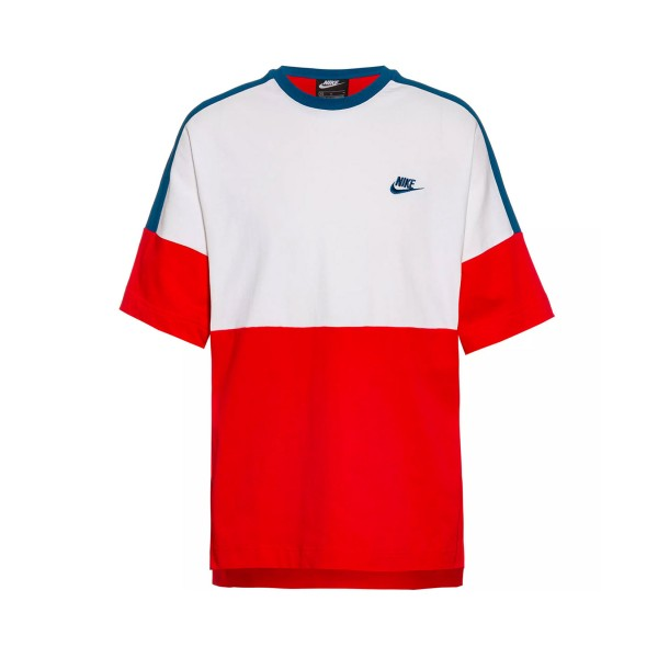 Nike Sportswear Top SS JSY Tee White - Red - Blue