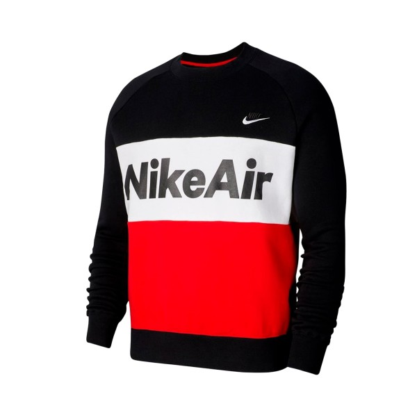 Nike Air Sportswear Fleece Crew Black - Red