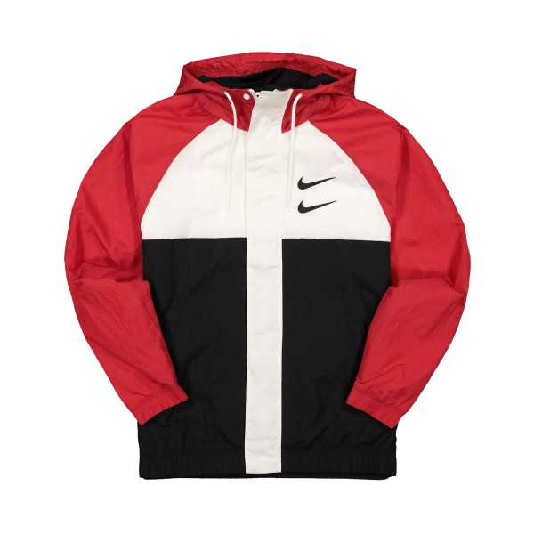 Nike Sportswear Swoosh jacket HD Woven Red - White - Black