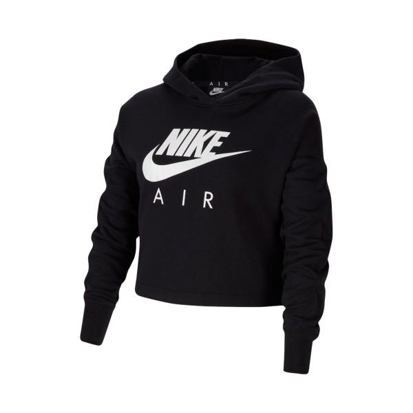 Nike Sportswear Air Crop Φουτερ Older Gilrs Black