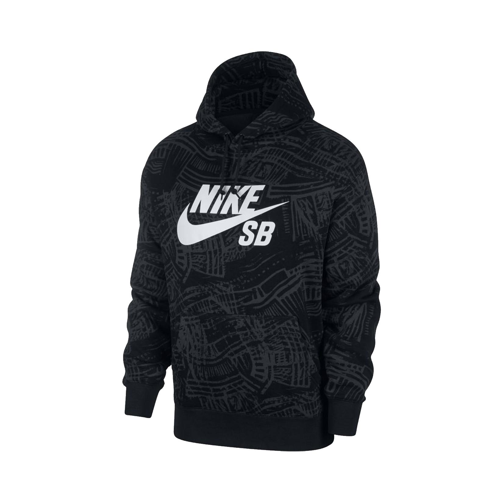 Nike SB Printed Skate Hoodie Black